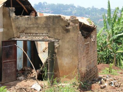 Damaged House in Uganda
