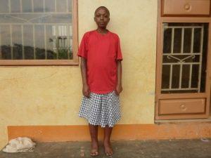 Racheal Nanfuka at Kireka Kinship Home in Kenya