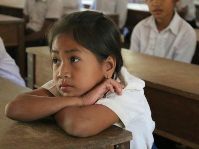 Girl in Cambodian Classroom