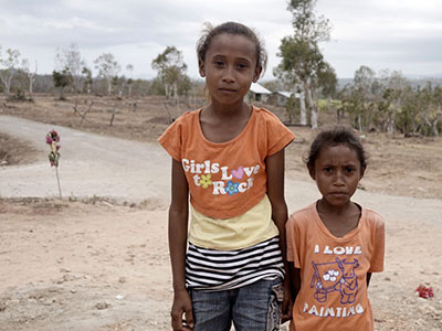 Orphaned girls in Indonesia