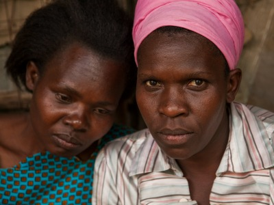 Two women in Kenya worrying about the future