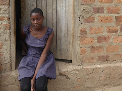 This girl in Uganda doesn't have a family or a home