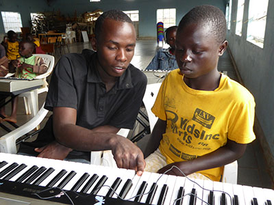 Making music with other people can transform a shy, scared child into an engaged, laughing participant.