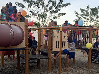Just a few days ago we opened a playground in the Dominican Republic for kids in and around the Cayacoa Kinship!