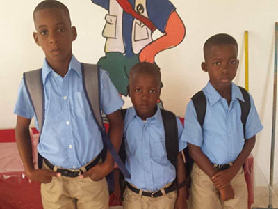 Three brothers living in the Cayacoa Kinship in the Dominican Republic