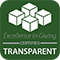 Excellence in Giving Certified Transparent logo