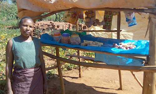 Widowed with four children, this determined woman from the Emmanuel Kinship in Kenya built up her own small business to feed her kids.