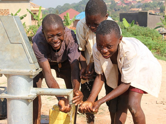 The Kireka Kinship Project community in Uganda knows their clean water project provides safe and clear water.
