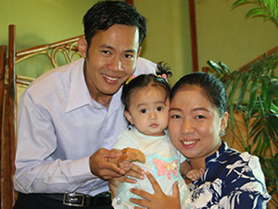 Pastor Jack Horm Kosal and wife Chhay Samedy - Chom Choa Kinship