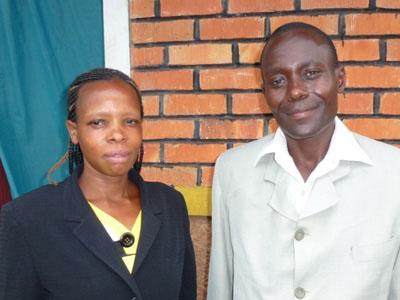 Pastor Nicolas and his wife - Minziro Kinship