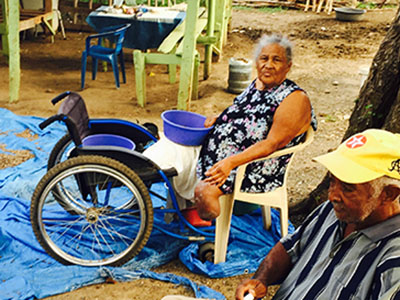 Antonia lost her leg because of her inability to treat her diabetes. Testing equipment is out of reach for many in the Dominican Republic.