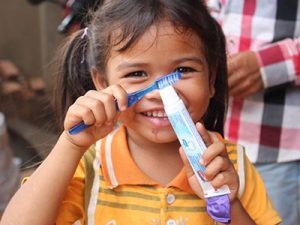 Gift the gift of a toothbrush and soap to orphans and widows in need.