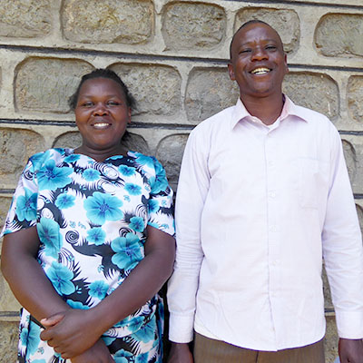 Pastor Fred and wife Everleen from Nzoia Kinship
