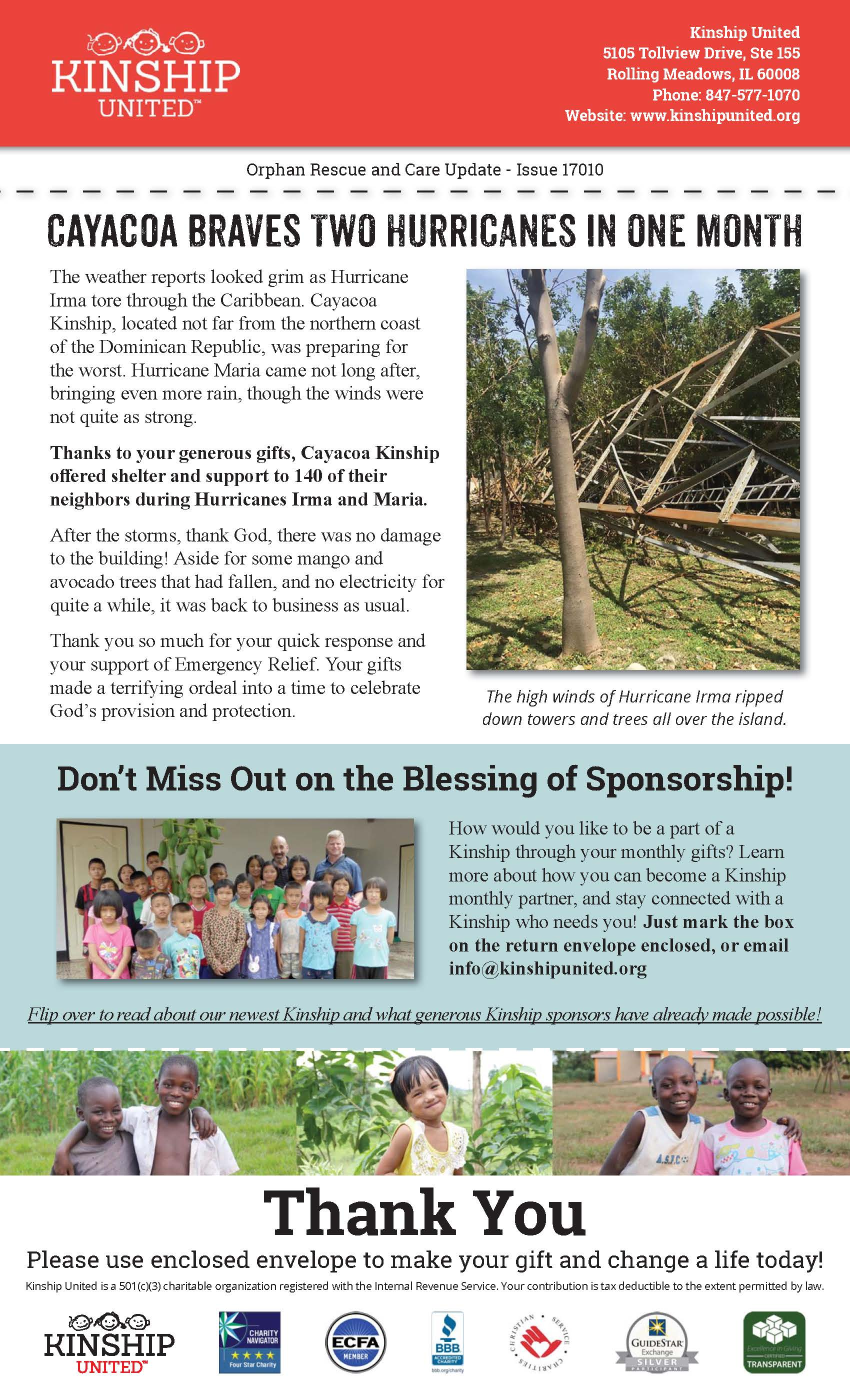 Newsletter October  Issue  Kinship United
