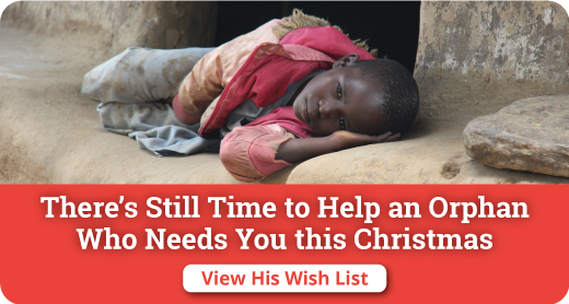 Help an orphan this Christmas when you make your tax-deductible donation for an Orphan's Wish List.