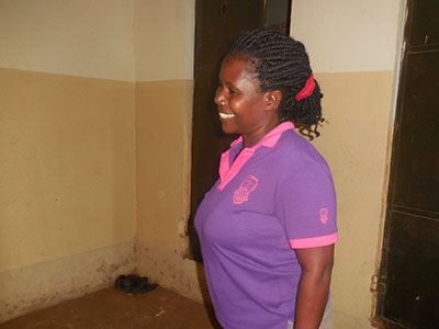 Margret is a new caregiver at the Buloba Kinship Project in Uganda