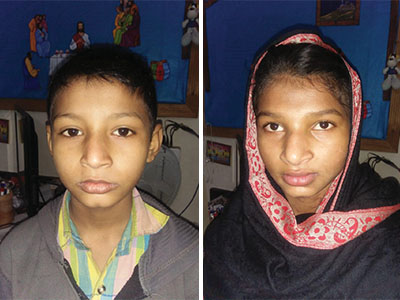 Two children from the Lahore Kinship Project in Pakistan who now have hope for a brighter future.