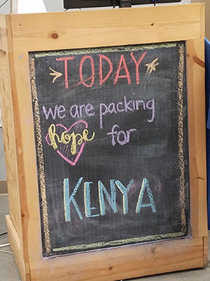 Today we are packing hope for Kenya