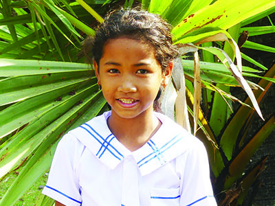 Young smiling girl from Cambodia