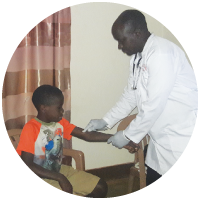 Child with a doctor
