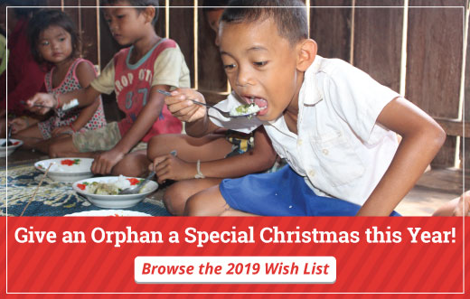 Give an orphan a special Christmas this year.