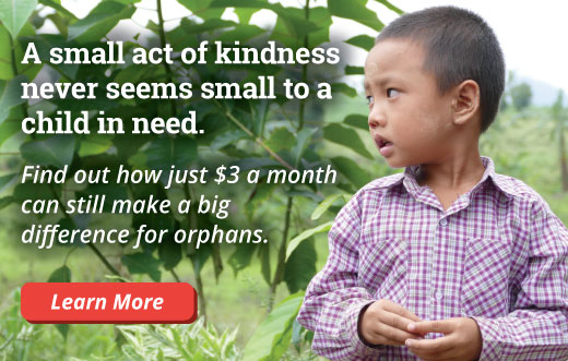 A small act of kindness never seems small to a child in need.