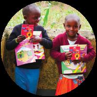 Children with school books