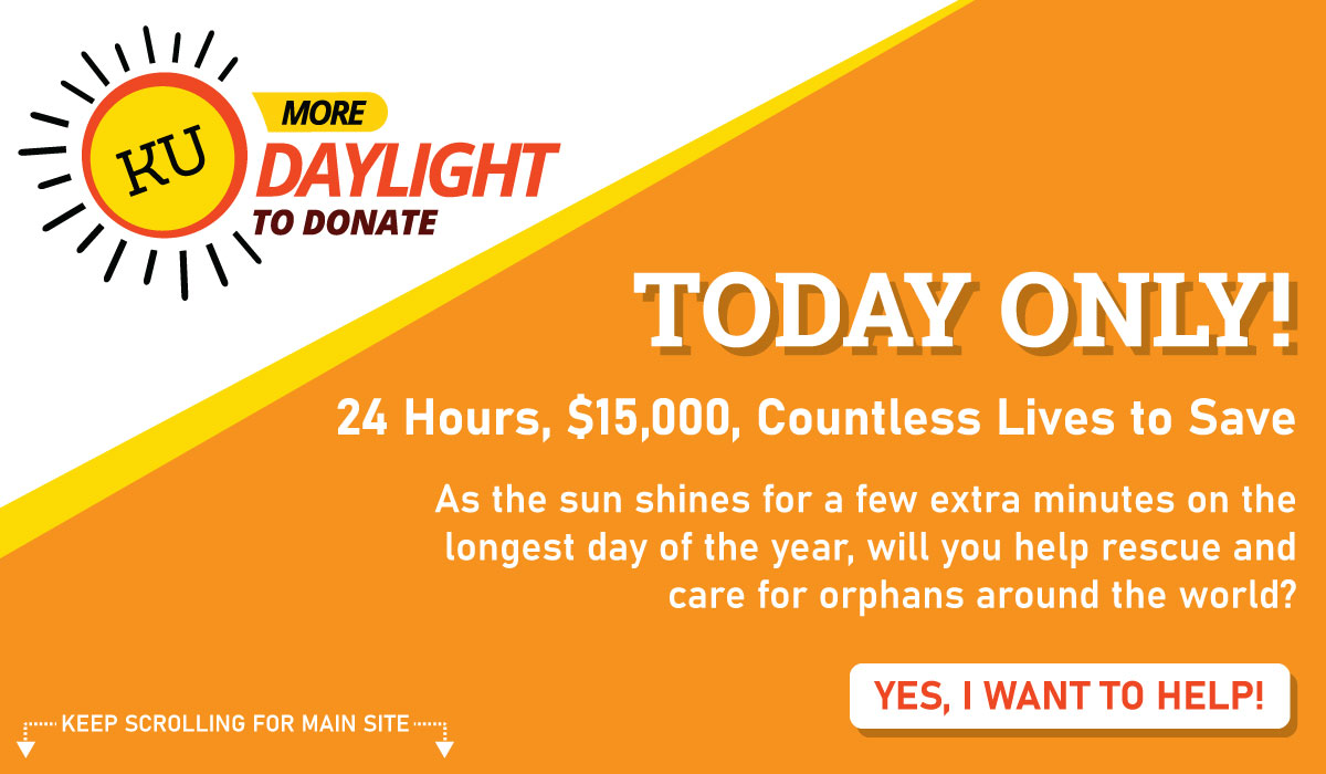 Support Orphan Rescue and Care during More Daylight to Donate